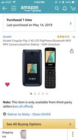 Alcatel Cingular flip phone in Fort Leonard Wood, Missouri