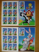 20 Warner Brothers US Postal Stamps in Aurora, Illinois