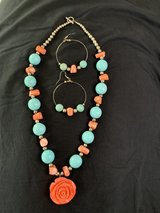 Rose Necklace and Earrings set in Fort Campbell, Kentucky