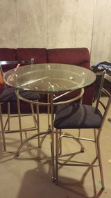 Glass pub Table w/ 2 chairs in Sandwich, Illinois