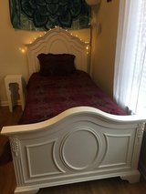 Twin size bed and side table for sale in Fort Benning, Georgia