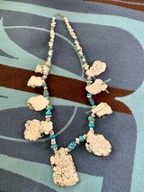 white stone with turquoise necklace in Fort Campbell, Kentucky