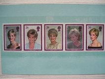 5 Princess Diana Postage Stamps in Aurora, Illinois