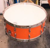 Vintage bass drum accent table in Camp Lejeune, North Carolina