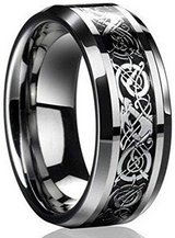 FATHER'S DAY SALE***BRAND NEW***Celtic Dragon Titanium Men's Wedding Band***SZ 10 in The Woodlands, Texas