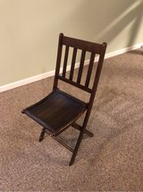 Set of 3 antique wood folding chairs in Westmont, Illinois