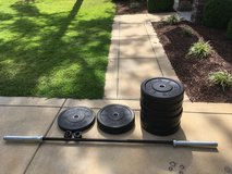 Rogue barbell and bumper plates in Camp Lejeune, North Carolina