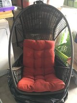 Hanging Chair (for out or indoor) with stand and seat cushion in Plainfield, Illinois