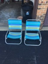 Beach chairs (set of 2) in Plainfield, Illinois