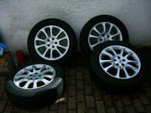 4 Hankook tires with alloy rims 225/60R18/104V in Ramstein, Germany