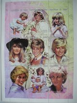 Princess Diana Commemorative Postage Stamps Chad 300 franc in Aurora, Illinois