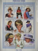 Princess Diana Commemorative Postage Stamps Chad 450 franc in Aurora, Illinois