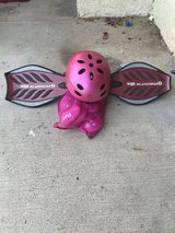 Kids razor board, helmet, pads in 29 Palms, California