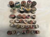 Vintage threads/wooden spools in Fort Rucker, Alabama