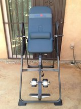 IRONMAN Invertion Table with Memory foam supports 350 lbs Like-New (Retail 299.00) in Yucca Valley, California
