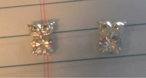 Rhinestone Owl Earrings in Bolingbrook, Illinois