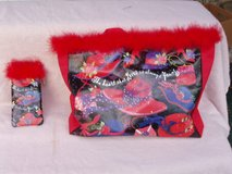 Red Hat Society Tote and matching Sunglass Case in Yorkville, Illinois