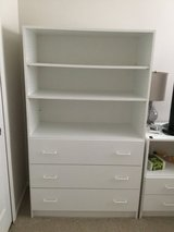 Techline three drawer dresser with shelves above in Tinley Park, Illinois