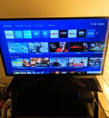 """55"""" Sharp TV and Glass TV Stand in Fairfield, California"""