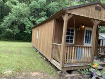 12x32 cabin with metal roof in Leesville, Louisiana