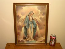 Framed Virgin Mary Picture in Bartlett, Illinois