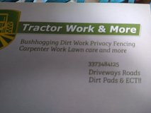 tractor work and more in Leesville, Louisiana