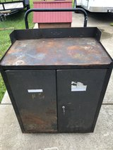 Old Military Tool Storage Cabinet with 3 drawers on Wheels and the Lock works in Fort Knox, Kentucky