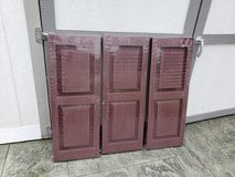 Severe Weather 2-Pack Bordeaux Raised Panel Vinyl Exterior Shutters (Common: 15-in x 39-in; Actu... in Glendale Heights, Illinois