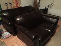 Leather Couch & Loveseat in Glendale Heights, Illinois