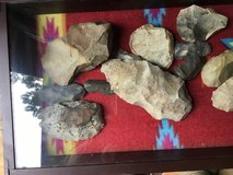 Nice display of stone lithic artifacts in Fort Polk, Louisiana