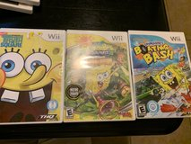 Wii Sponge bob Games in Travis AFB, California