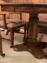 Faux Burl Wood game table in Palatine, Illinois