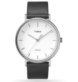Mens Timex Fairfield 41mm Leather Strap Watch in Glendale Heights, Illinois