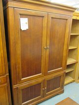 Wood Media Cabinet in Glendale Heights, Illinois