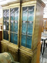 Hutch with Gold Leaf and Convex Glass in Glendale Heights, Illinois
