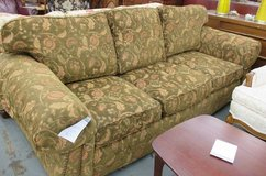 Green and Coral Floral Plunkett Sofa in Glendale Heights, Illinois