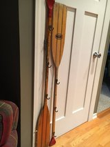 Decorative Vintage Oars with Hooks For Hanging in St. Charles, Illinois