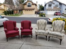 Wing back chairs in Fairfield, California