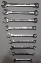 (# 18) Set of 9 Chrome Vanadium SAE Combination Wrenches (New) in The Woodlands, Texas