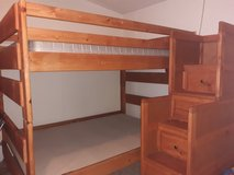 Full size bunk bed with drawer staircase in Conroe, Texas