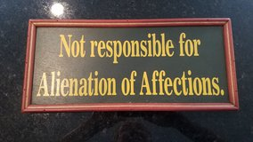 """Wood Wall Decor """"Affection Alienation"""" Sign NEW in Chicago, Illinois"""