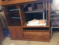 TV stand or Entertainment center wood ~ Historical Humble in The Woodlands, Texas