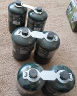 six cylinders of coleman propane fuel in 29 Palms, California