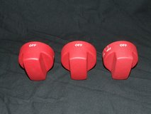 (3) Wolf Range Appliance Knobs Red Cast Metal ~ Heavy ~ New in Westmont, Illinois