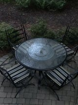 : ) Black Metal Patio Furniture Set!!! in Glendale Heights, Illinois