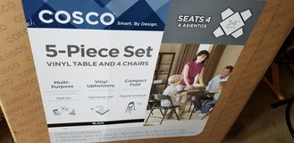 Cosco 5-piece vinyl table & 4 chairs in Joliet, Illinois