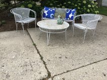 Vintage Wrought Iron Patio Set- in Glendale Heights, Illinois
