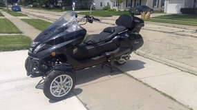 Sunny motor scooter in Westmont, Illinois