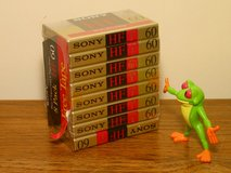 Eight Sony HF 60 minute Cassette Tapes in Westmont, Illinois