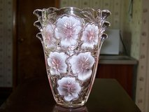 Studio Nova Pink Pansy Bouquet Lead Crystal Glass Vase in Chicago, Illinois